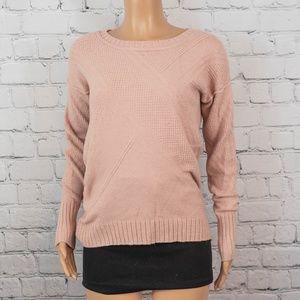 Calvin Klein blush pink knit sweater